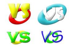 Versus emblemeninzameling Stock Afbeeldingen
