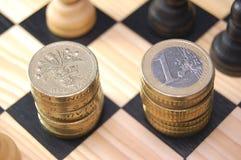 versus euro funt Zdjęcie Royalty Free