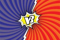 Versus.Fight background comic pop art style design.vs letters in speech bubble. Stock vector illustration vector illustration
