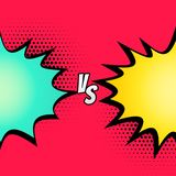 Versus fight comic style background. Illustration Royalty Free Stock Photo