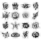 Versus icon sketch set stock illustration