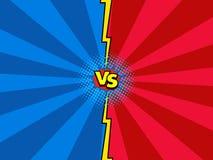 Versus komiks versus tło, bohater akcja royalty ilustracja