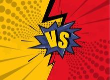 Versus letters fight background. vector illustration