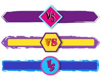 Versus letters fight backgrounds comics style design. Vector illustration. Versus letters fight backgrounds comics book style design. Vector illustration Stock Photos