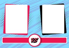 Versus letters fight backgrounds comics style design. Vector illustration. Versus letters fight backgrounds comics book style design. Vector illustration Stock Images