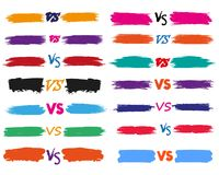 Versus letters fight backgrounds comics style design. Vector illustration. Versus letters fight backgrounds comics book style design. Vector illustration Royalty Free Stock Image