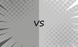 Versus letters fight backgrounds comics style design. Vector illustration Stock Photo