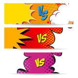 Versus letters fight backgrounds comics style design. Vector illustration Stock Photos