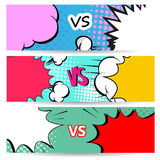 Versus letters fight backgrounds comics style design. Vector illustration Stock Image