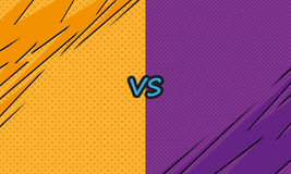 Versus letters fight backgrounds comics style design. Vector illustration Stock Photography