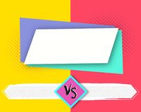 Versus letters fight backgrounds comics style design. Vector illustration. Versus letters fight backgrounds comics book style design. Vector illustration Stock Image