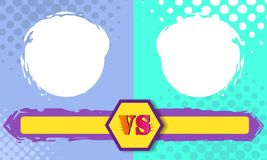 Versus letters fight backgrounds comics style design. Vector illustration. Versus letters fight backgrounds comics book style design. Vector illustration Royalty Free Stock Photo