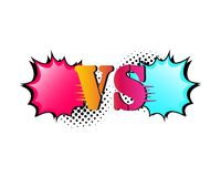 Versus letters fight backgrounds comics style design. Vector illustration. Versus letters fight backgrounds comic book style design. Vector illustration Royalty Free Stock Photography