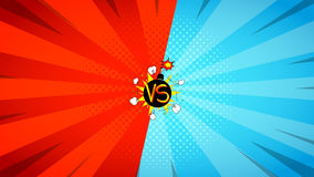 Versus letters fight illustration Royalty Free Stock Photo