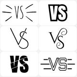 Versus letters logo. Black V and S symbols Stock Photos