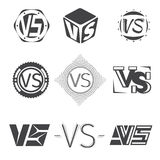Versus letters logos. Competition icons vector set Royalty Free Stock Photo