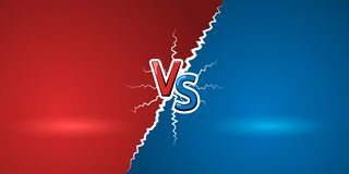 Free Versus Letters. Red Letters V And Blue S Symbols. VS Abstract Background. Vector Illustration Royalty Free Stock Photography - 102813867