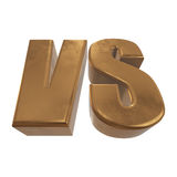 Versus Logo. VS Letters 3D Royalty Free Stock Photo