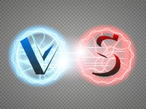 Versus Logo. VS Vector Letters Illustration. Competition Icon. Fight Symbol. Royalty Free Stock Photography