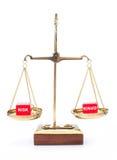 versus nagrody ryzyko Zdjęcia Stock