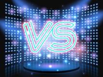 Versus neon logo Stock Images
