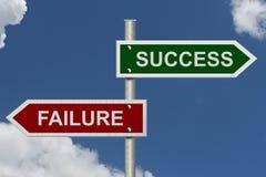 versus niepowodzenie sukces Obraz Royalty Free