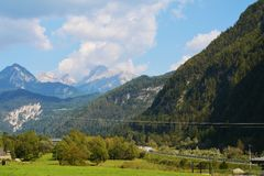 Versus Rolle pass, Trento, Italy Royalty Free Stock Image