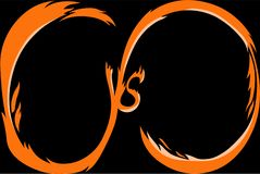 Versus screen. Background for battle or competition. Versus screen template. Background for battle or competition royalty free illustration
