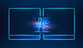 Versus screen design Royalty Free Stock Photo