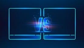 Versus screen design Royalty Free Stock Photo