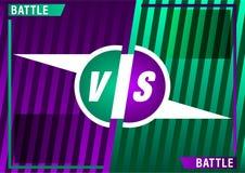 Versus screen design. Purple and Green VS letters. Vector illustration. Versus screen design. Purple and Green VS letters. Battle between opponents. Beautiful vector illustration