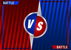 Versus screen design. Red and blue VS letters. Vector illustration. Versus screen design. Red and blue VS letters. Battle between opponents. Beautiful gradient vector illustration