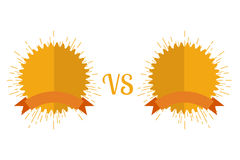 Versus Screen flat style. Vecttor illustration Stock Photography