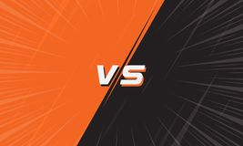 Versus Screen Orange and Black With Comic Zoom Line. Versus Screen Pink and Light Blue With Halftone and Comic Zoom Line. Vs Fight background for battle royalty free illustration