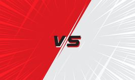 Versus Screen Red and White With Halftone and Comic Zoom Line. Versus Screen Pink and Light Blue With Halftone and Comic Zoom Line. Vs Fight background for vector illustration