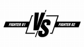 Versus screen. Vs battle headline, conflict duel between teams. Confrontation fight competition. Vector background. Template stock illustration