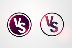Versus sign like opposition. concept of confrontation, together, standoff, final fighting. isolated on white background. VS. Eps 10 Royalty Free Stock Images