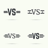 Versus sign vecctor Royalty Free Stock Photos