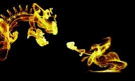 versus smoka rycerz Zdjęcie Royalty Free