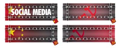 versus strony internetowe medialny communism socjalny Obraz Royalty Free