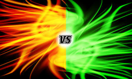 Versus Vector. VS Letters. Flame Fight Background Design. Competition Concept. Fight Symbol Stock Image