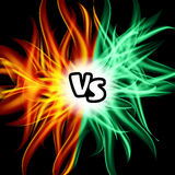 Versus Vector. VS Letters. Flame Fight Background Design. Competition Concept. Fight Symbol Stock Images