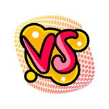 Versus or vs confrontation label. Fight opposition symbol, VS bright colorful element vector illustration Royalty Free Stock Photography