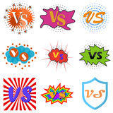 Versus or vs confrontation labels. Set of Versus or vs confrontation. Flat design,  illustration Royalty Free Stock Photo