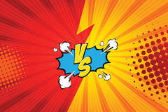 Versus. vs. Fight backgrounds comics style design. Vector illustration. EPS 10 Stock Photo