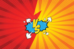 Versus. vs. Fight backgrounds comics style design. Vector illustration. EPS 10 Royalty Free Stock Photos