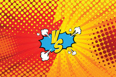 Versus. vs. Fight backgrounds comics style design. Vector illustration. EPS 10 Stock Image