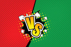 Versus. vs. Fight backgrounds comics style design. Vector illustration. EPS 10 Stock Photography