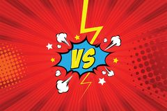 Versus. vs. Fight backgrounds comics style design. Vector illustration. EPS 10 Stock Photos