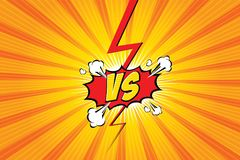 Versus. vs. Fight backgrounds comics style design. Vector illustration. Versus. vs. Fight backgrounds comics style design.  Vector illustration. EPS 10 Royalty Free Stock Photo